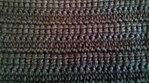 länkade stolpar linked double crochet
