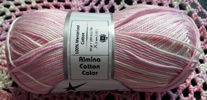 almina mercerised cotton color yarn paradise white pink lilac