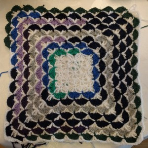 temperature blanket temperatur filt mood shell pattern crochet