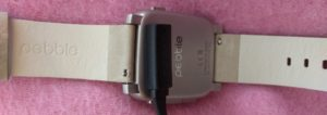 pebble time steel silver smartwatch smart watch smart klocka smartklocka laddare charger